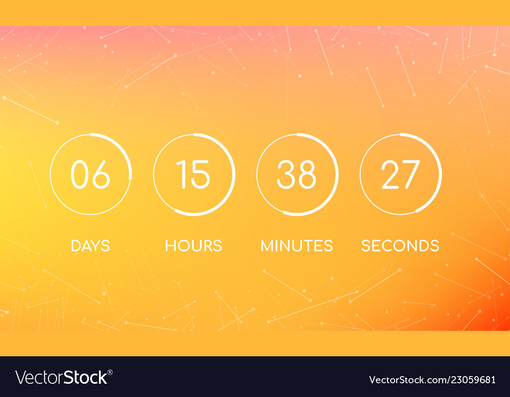 Countdown clock board for coming soon page