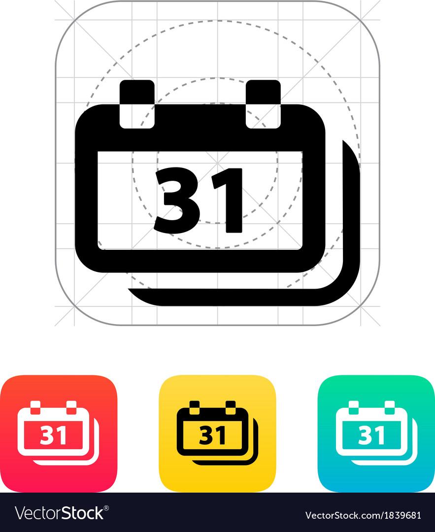 Dates icon vector image