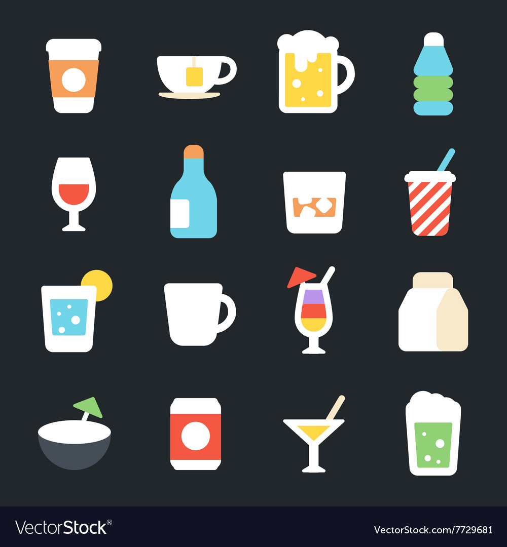 Drinks Flat Icons