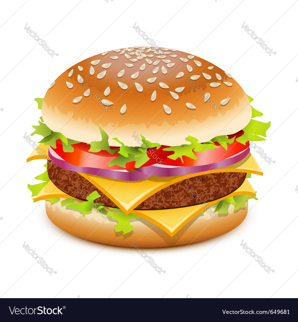 Hamburger with cheese