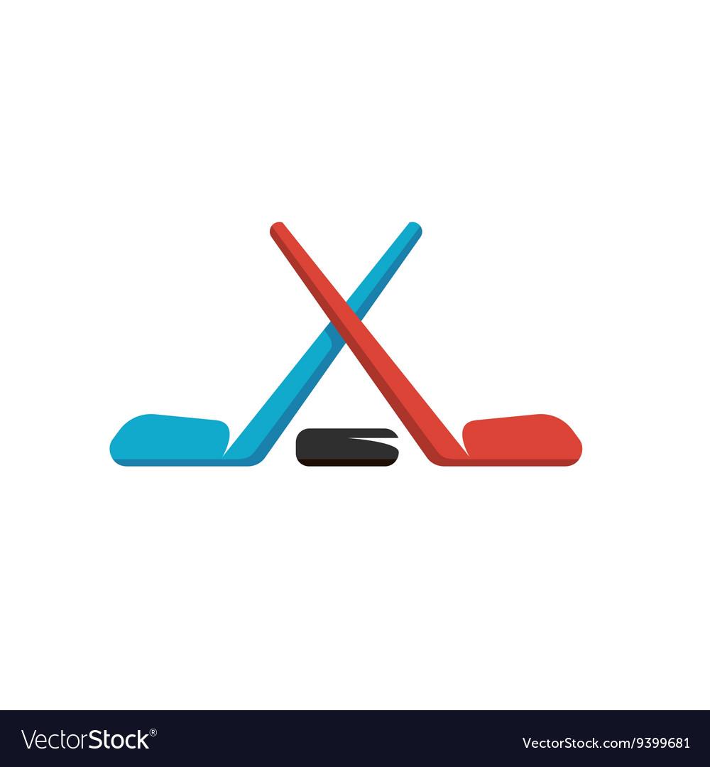 Hockey logo on white background