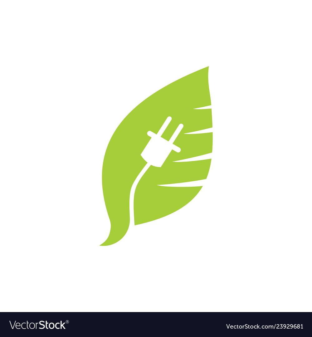 Leaf logo design template isolated