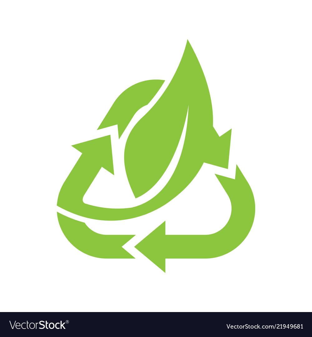 Leaf logo eco graphic creative template
