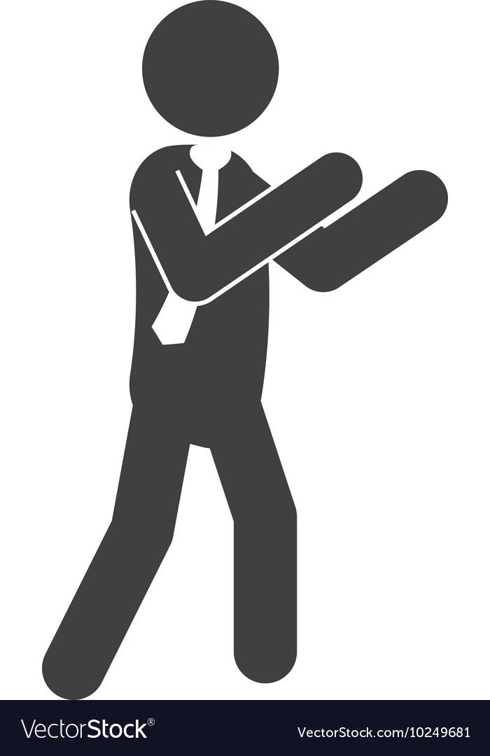 Man male pictogram suit person icon