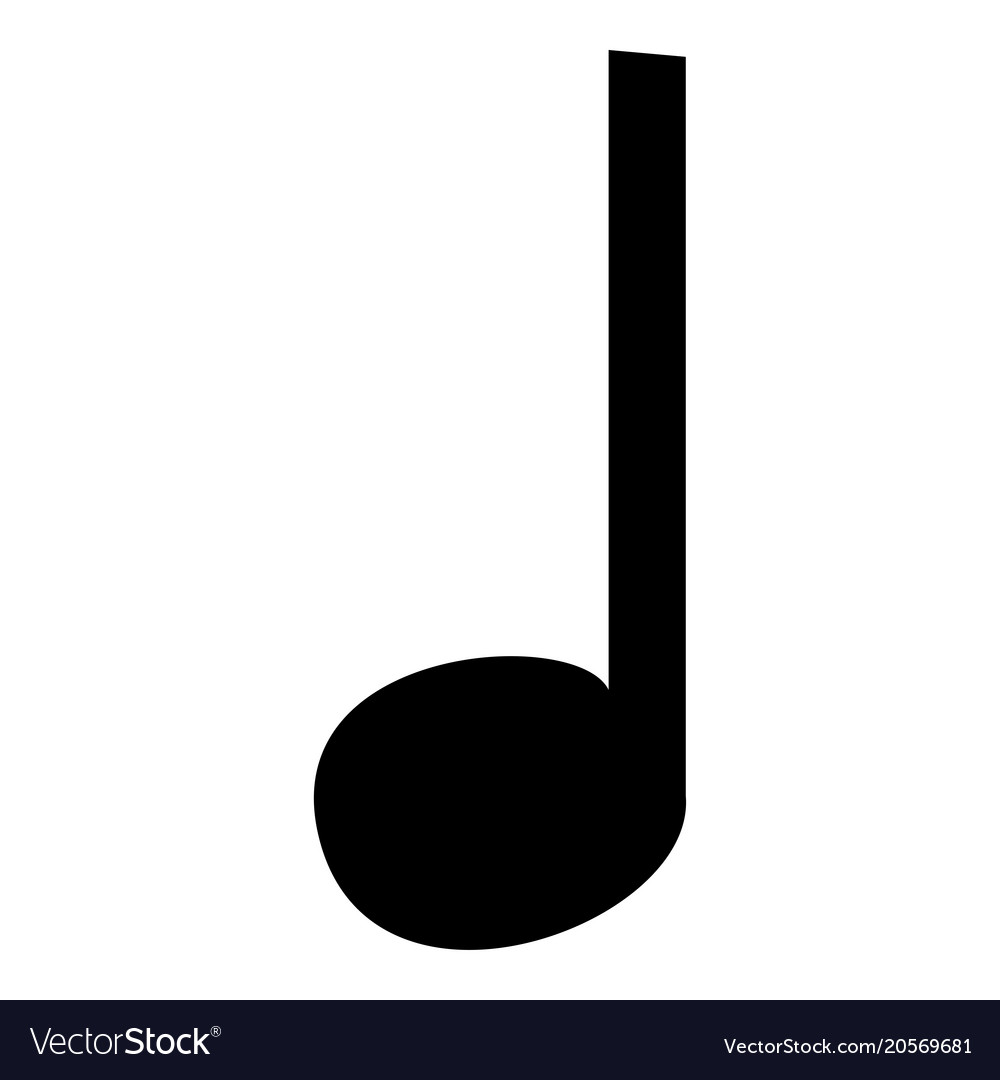Music note icon black color icon