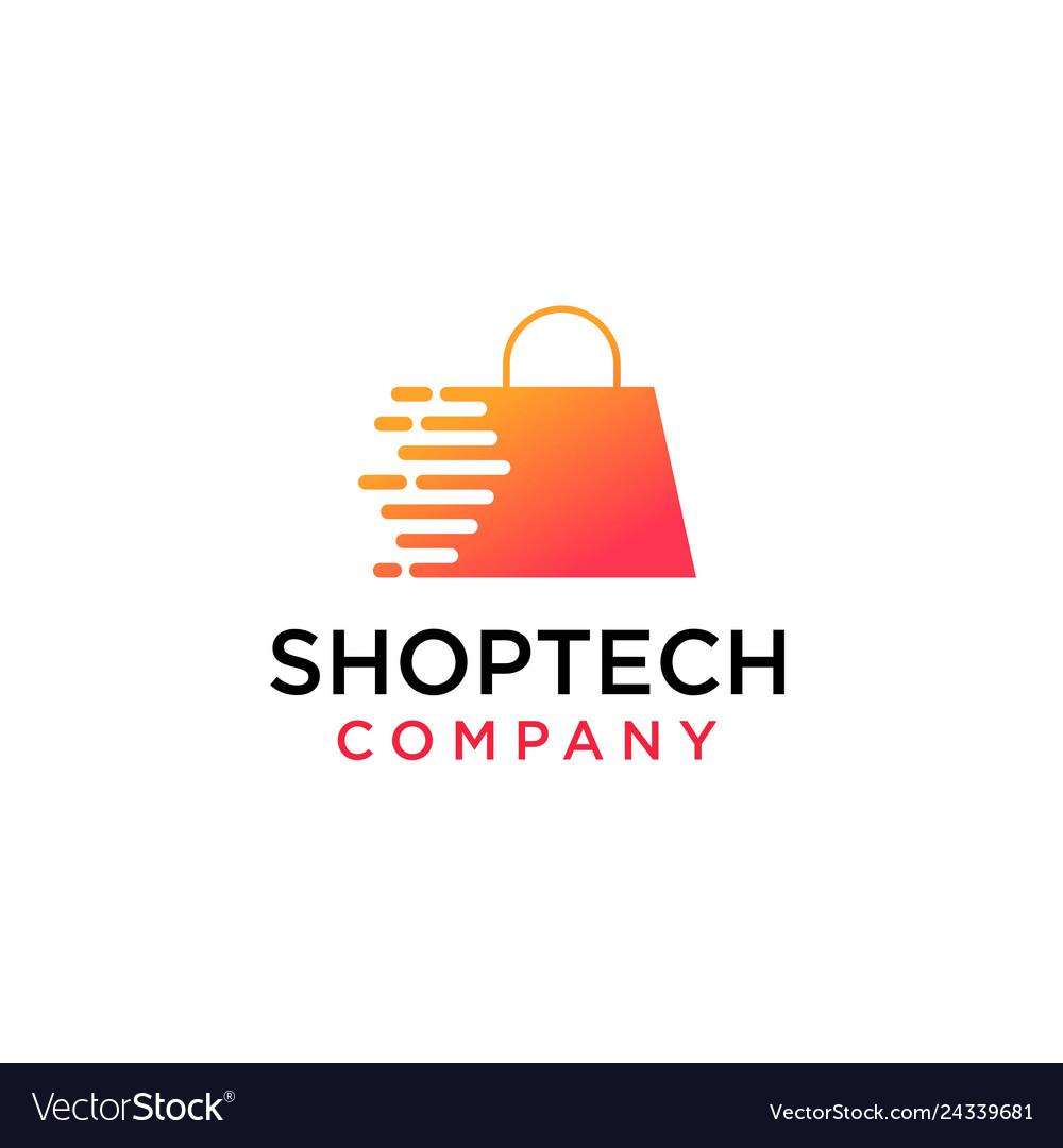 Online shop store market logo