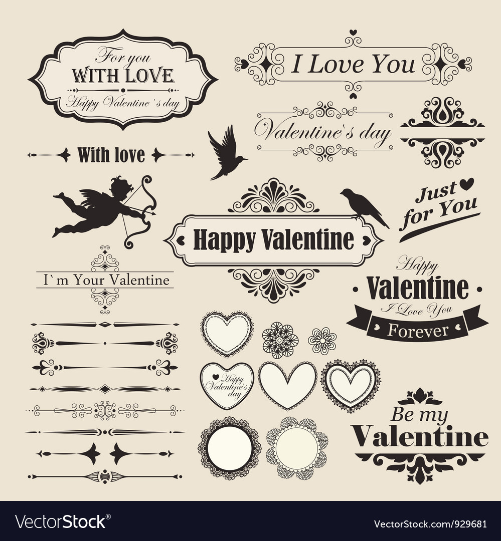 Valentines lettering