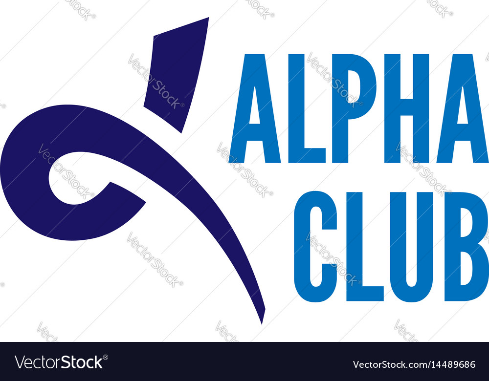 Alpha Letter Symbol Royalty Free Vector Image Vectorstock