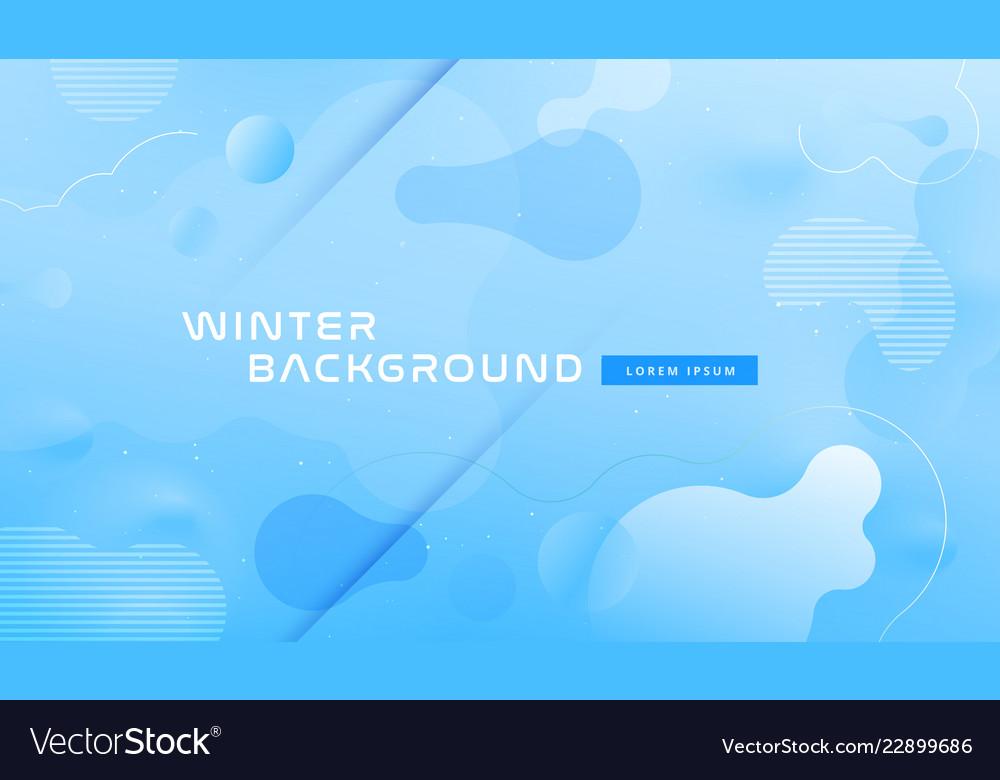 Colorful geometric background design blue fluid