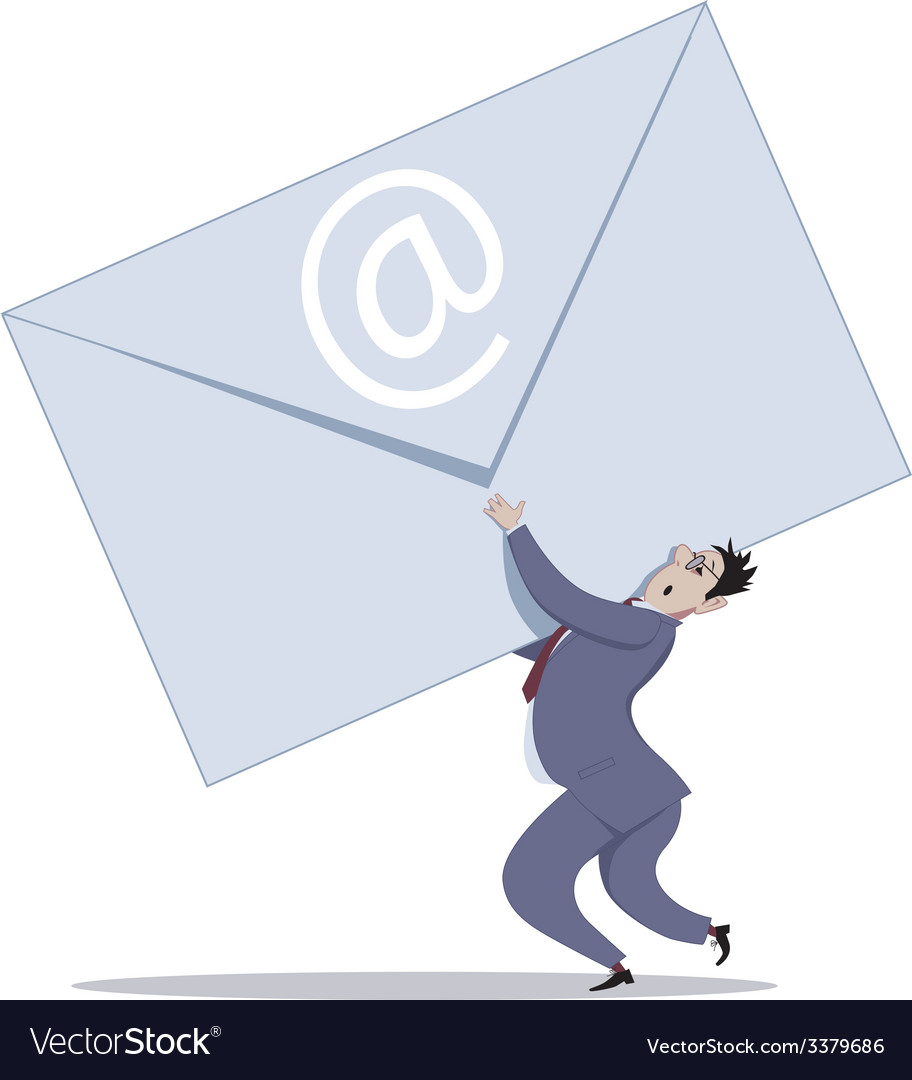 Email overload vector image