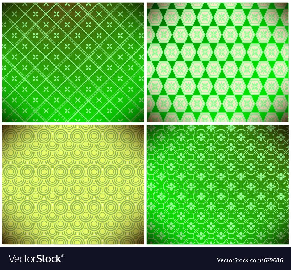 Green abstract wallpaper vector image