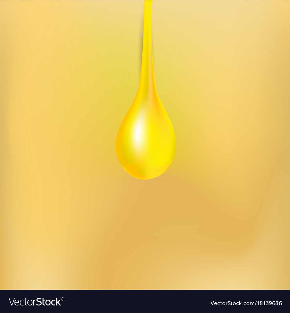 Oil drop icon background isolated white droplet vector image