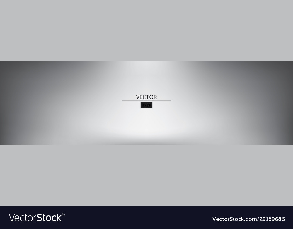 Panoramic grey gradient background vector