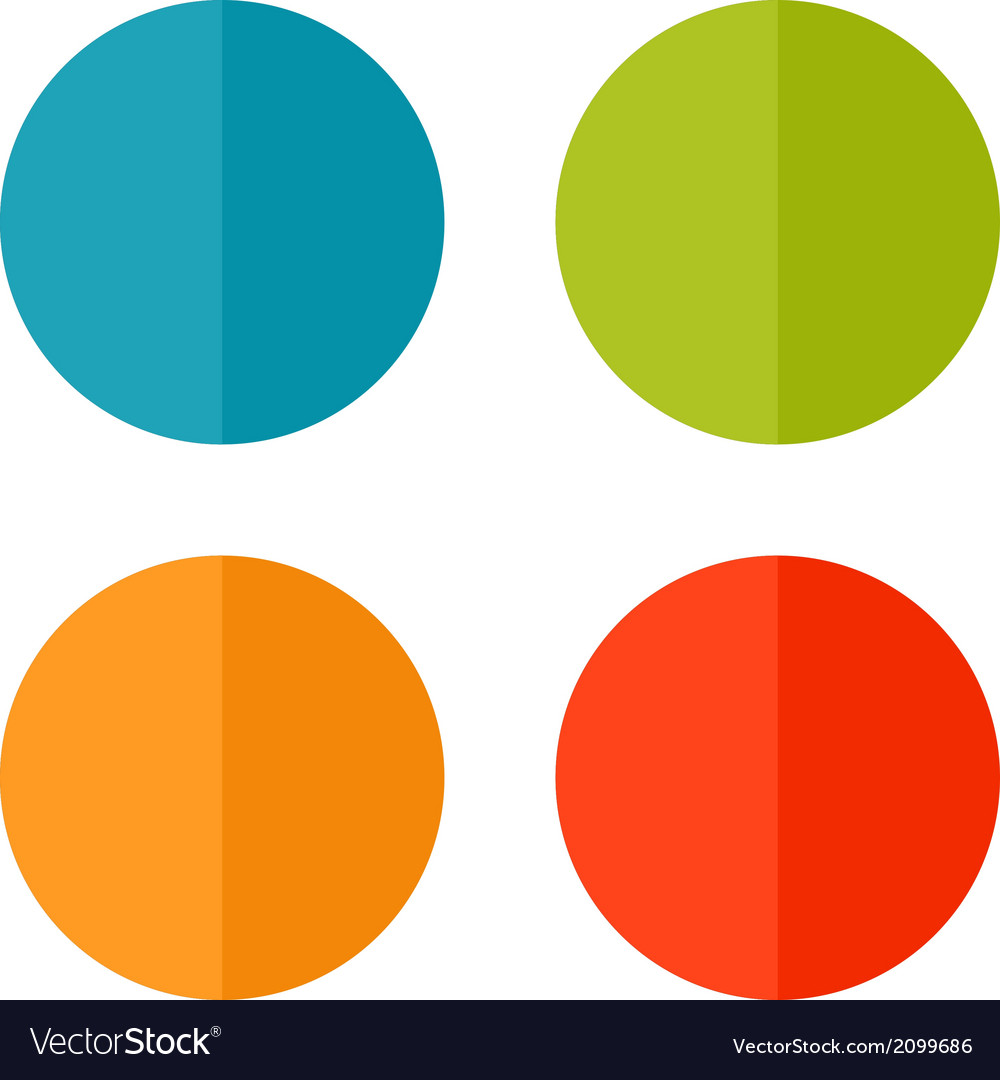 Set templates vector image