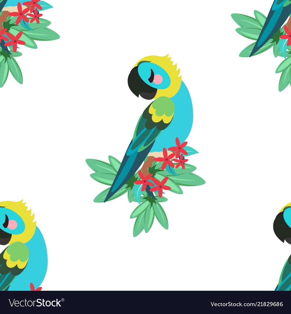 Tropical parrot pattern
