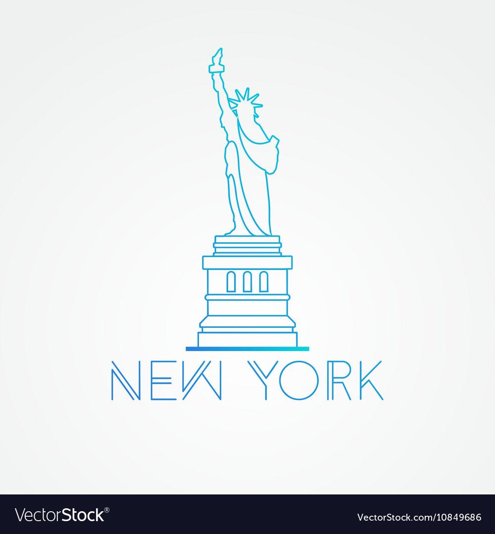 World famous statue liberty
