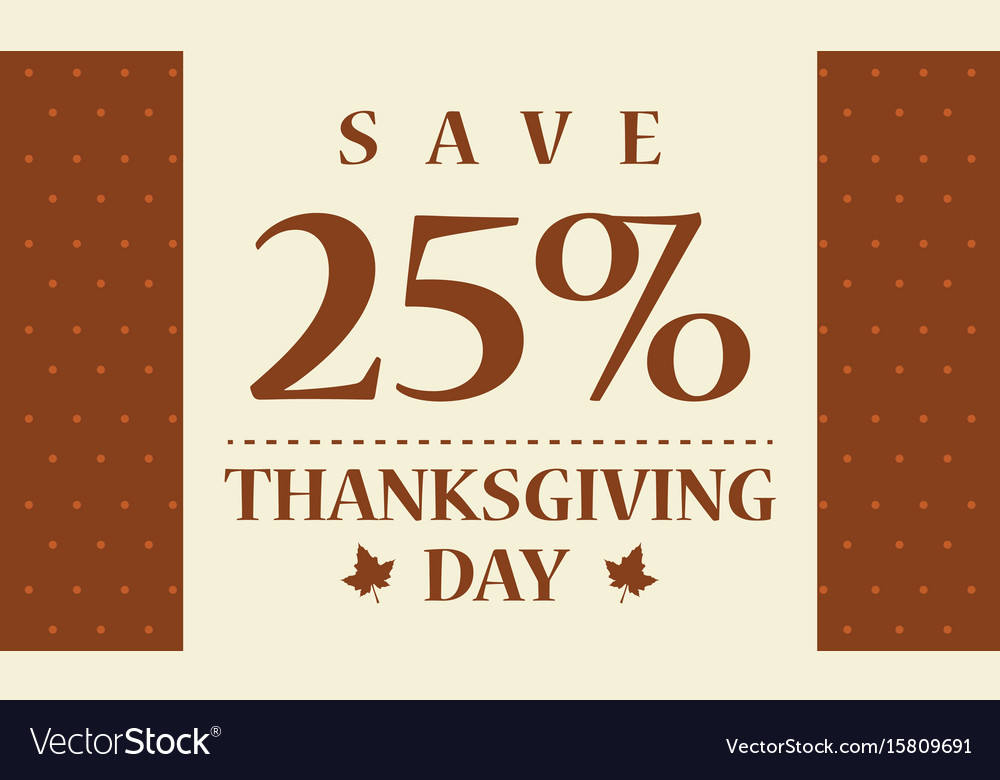 Celebration thanksgiving day card style vector image