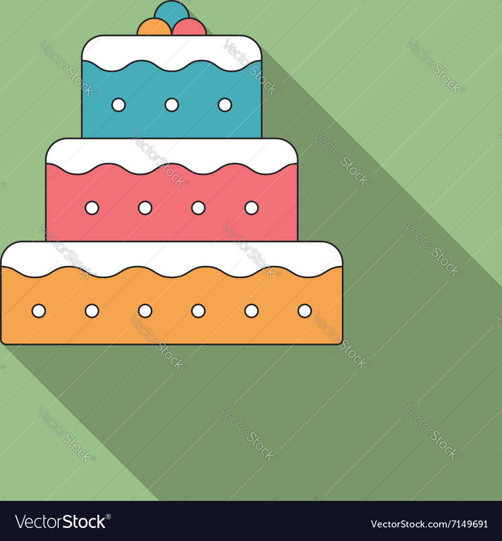 Flat Cake Icon