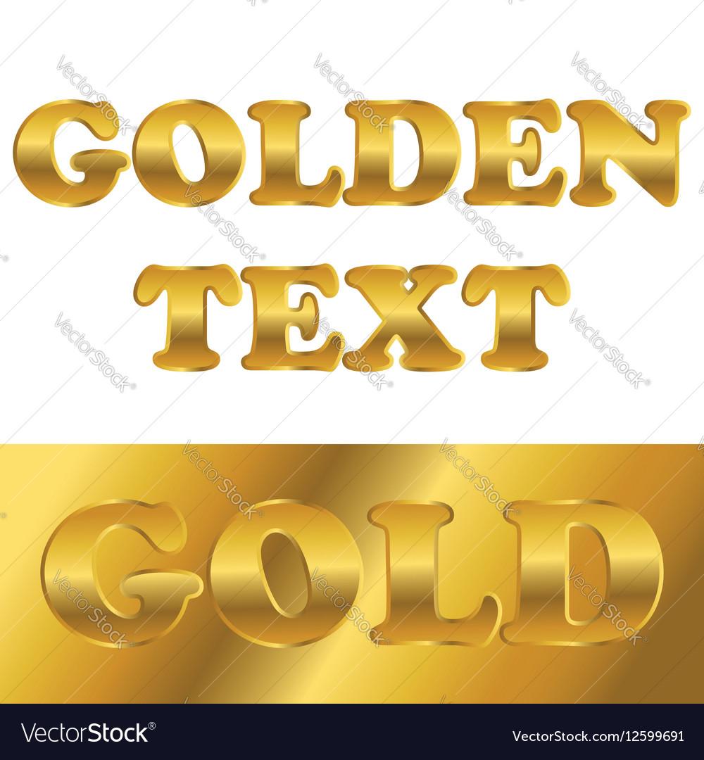 Golden metallic text with gradient