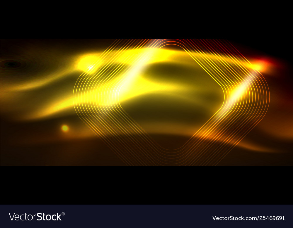 Neon square shapes lines on glowing light