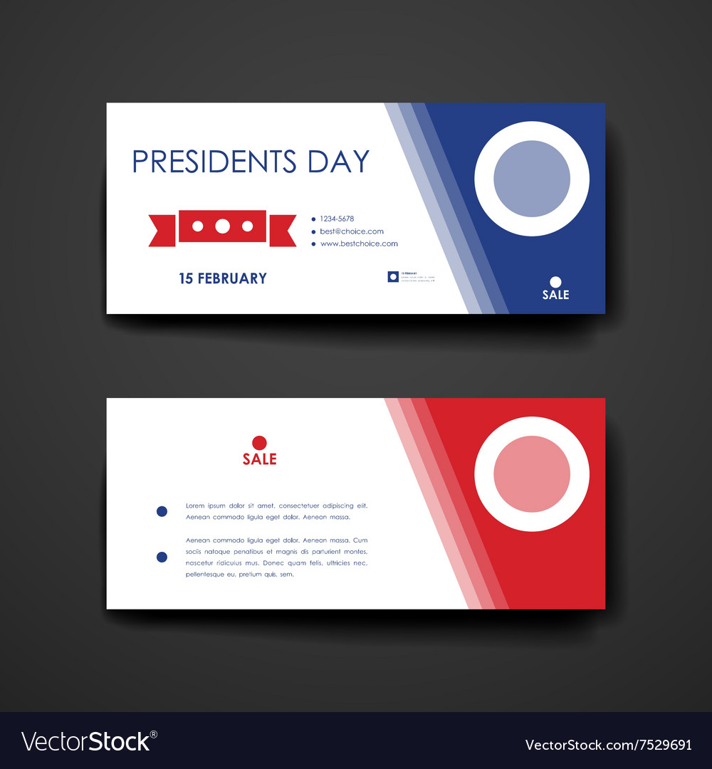 Set of modern design banner template in Presidents