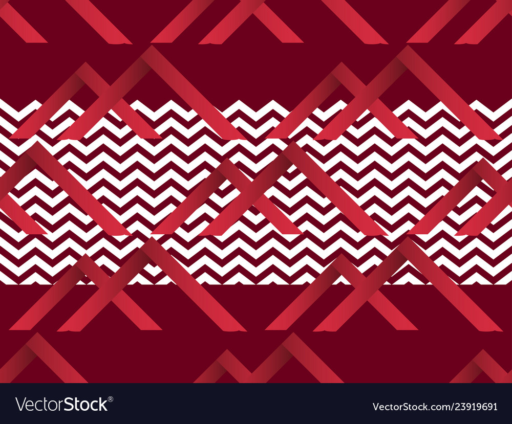 Zigzag seamless pattern with gradient red color
