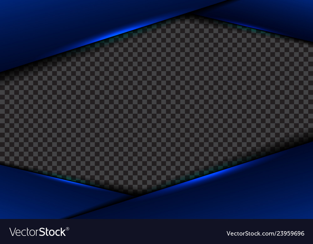 Abstract template blue frame layout metallic blue