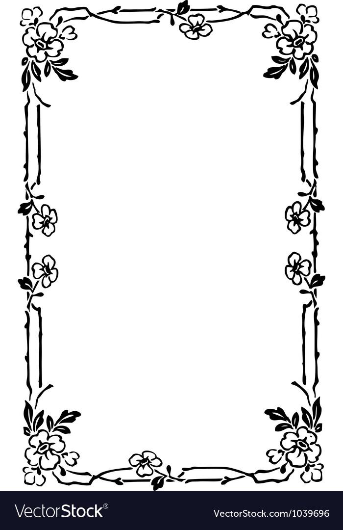 art nouveau frame royalty free vector image vectorstock rh vectorstock com art nouveau vectoriel art nouveau vector ornaments