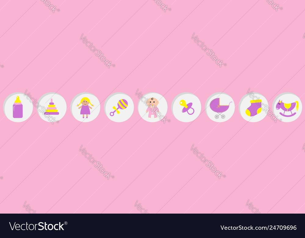 Baby girl shower card its a girl bottle horse