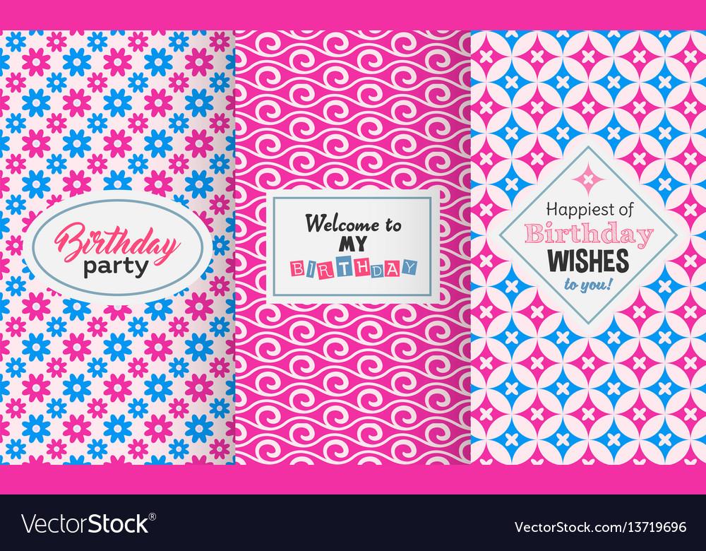 Chic birthday pattern vector image