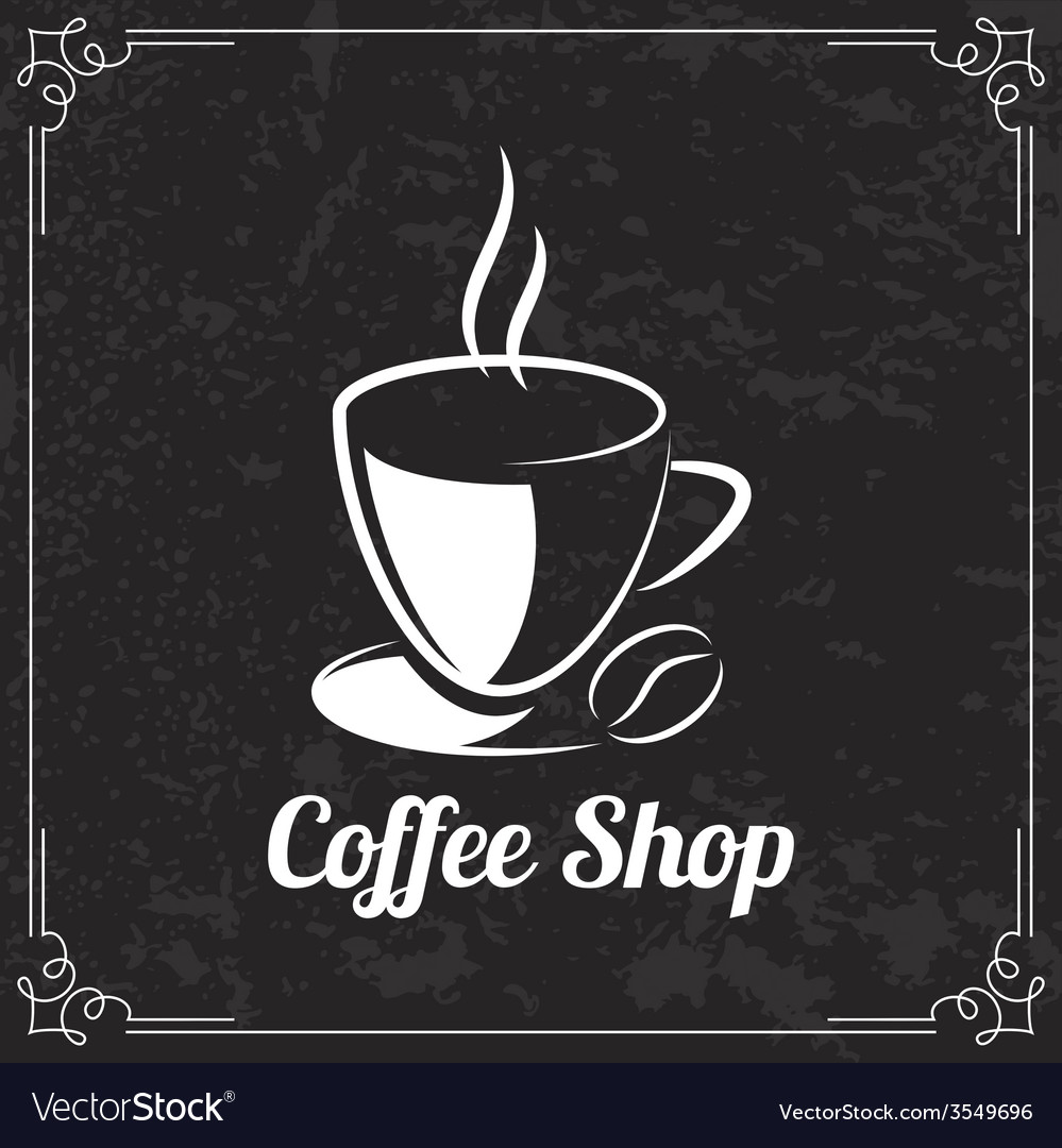 coffee design for menu royalty free vector image