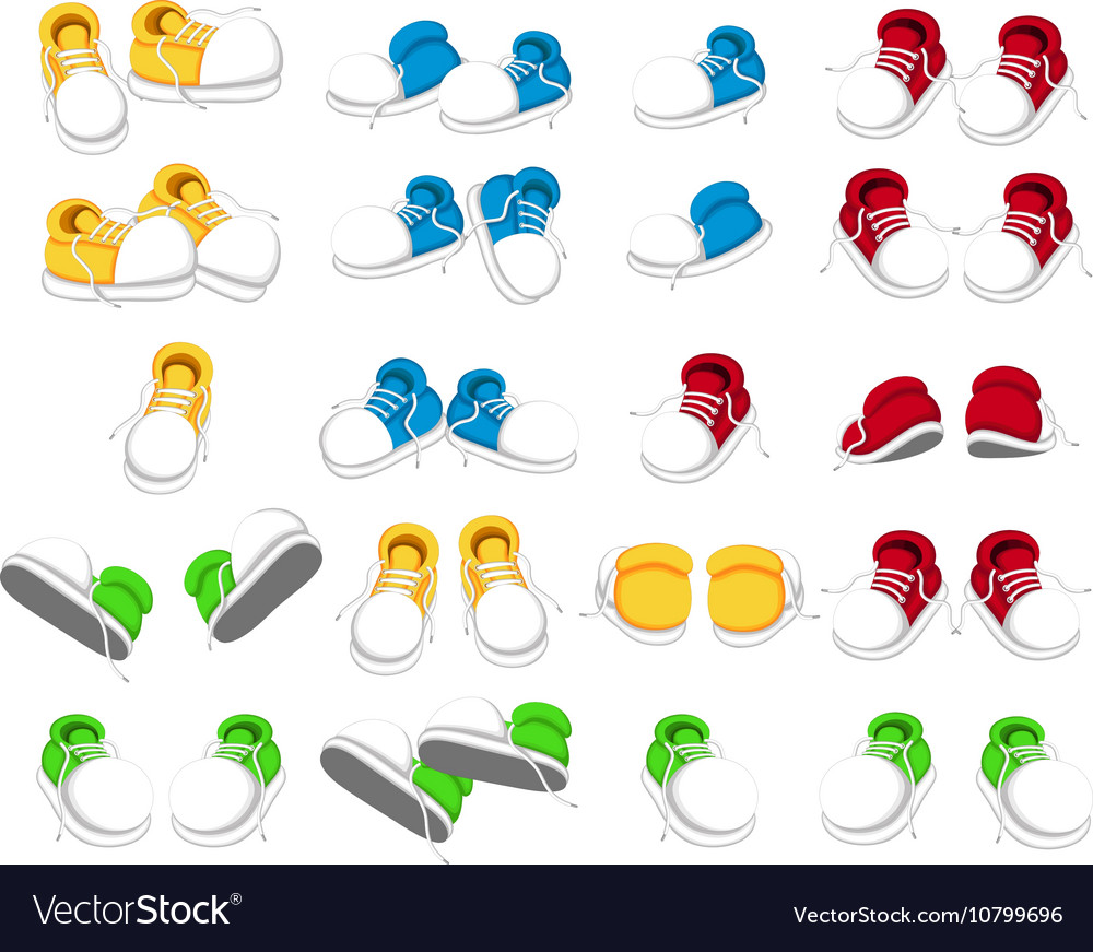 collection of shoes cartoon royalty free vector image