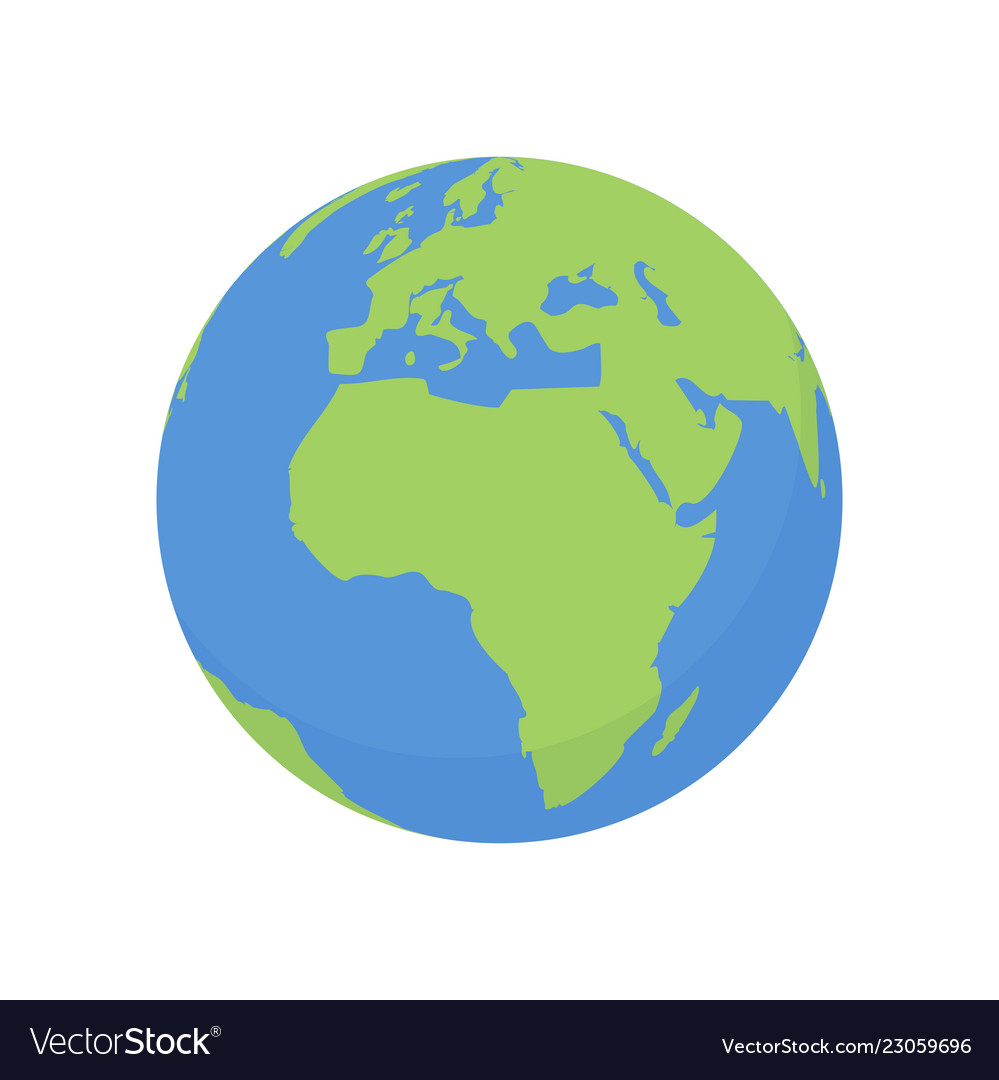 Earth globe icon world plawith africa map Vector Image