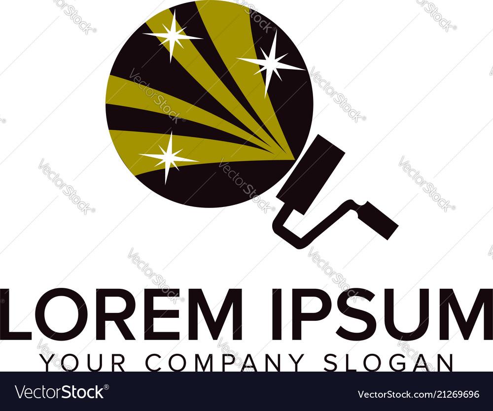 Paint logo design concept template fully editable