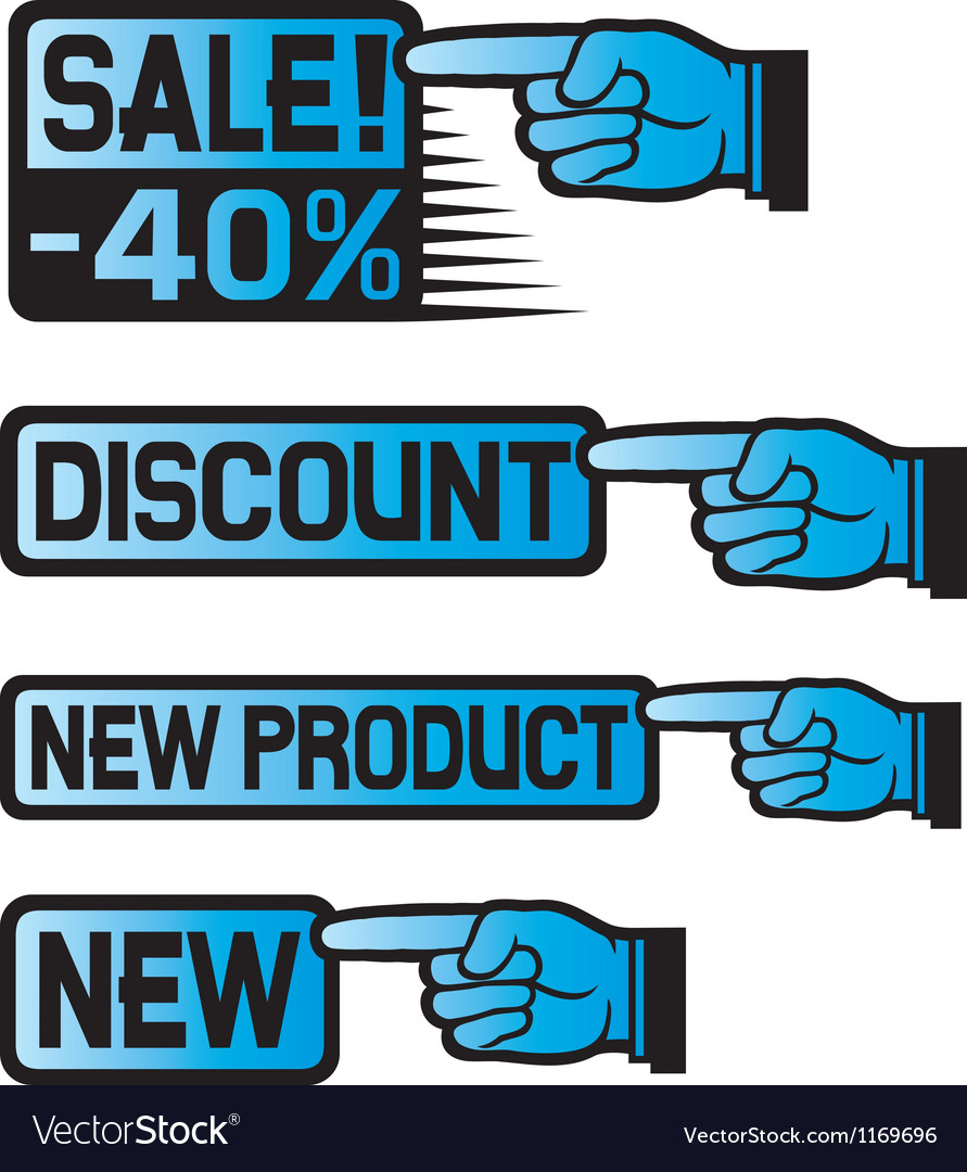 Price Tag Set-sales finger vector image