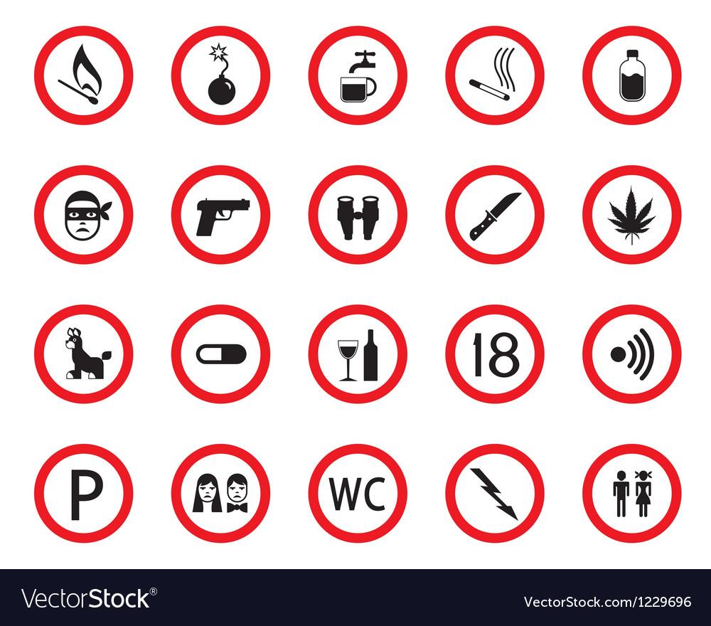 Prohibitive and mandatory public signs