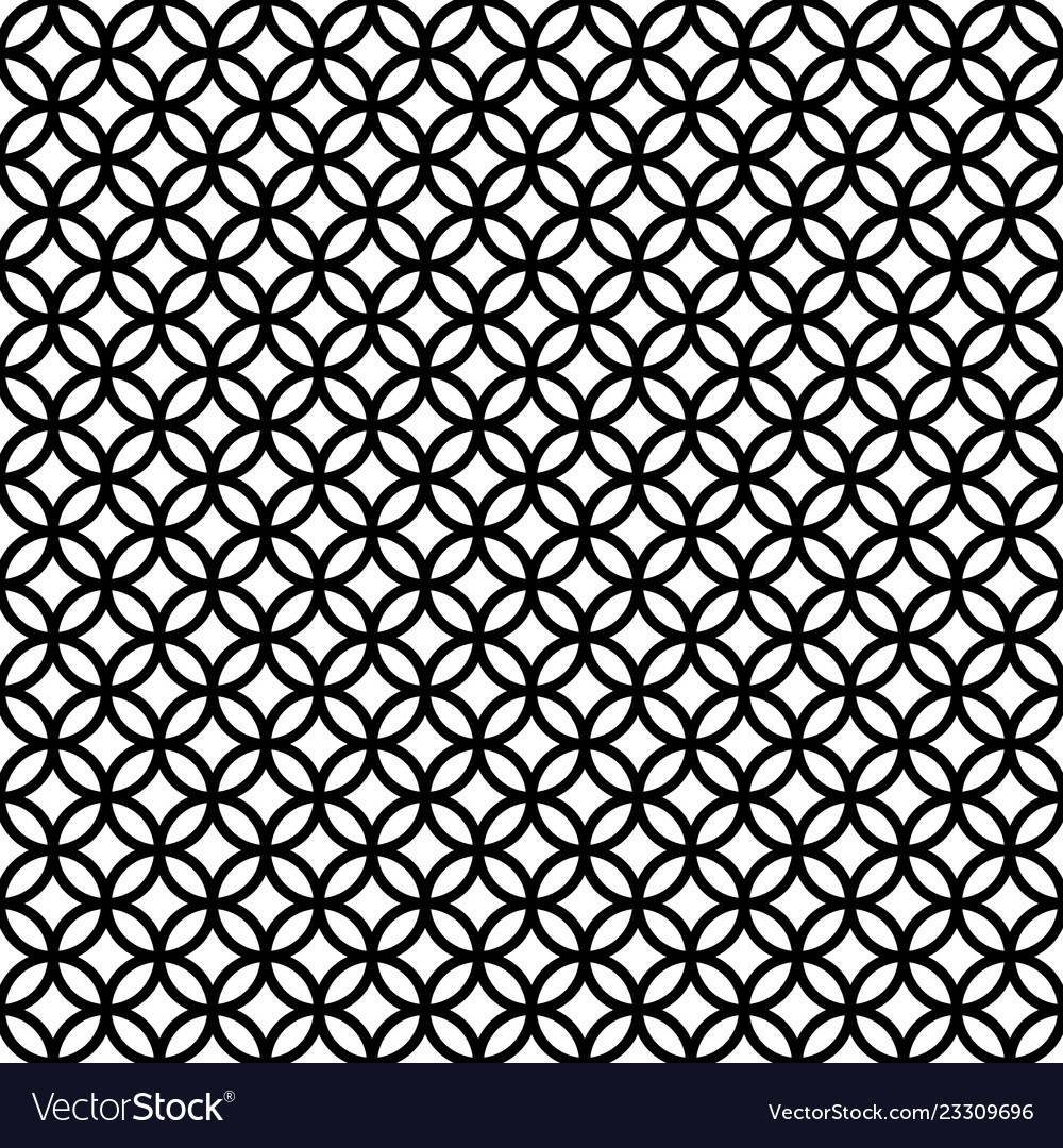 Seamless pattern intersecting circles rings
