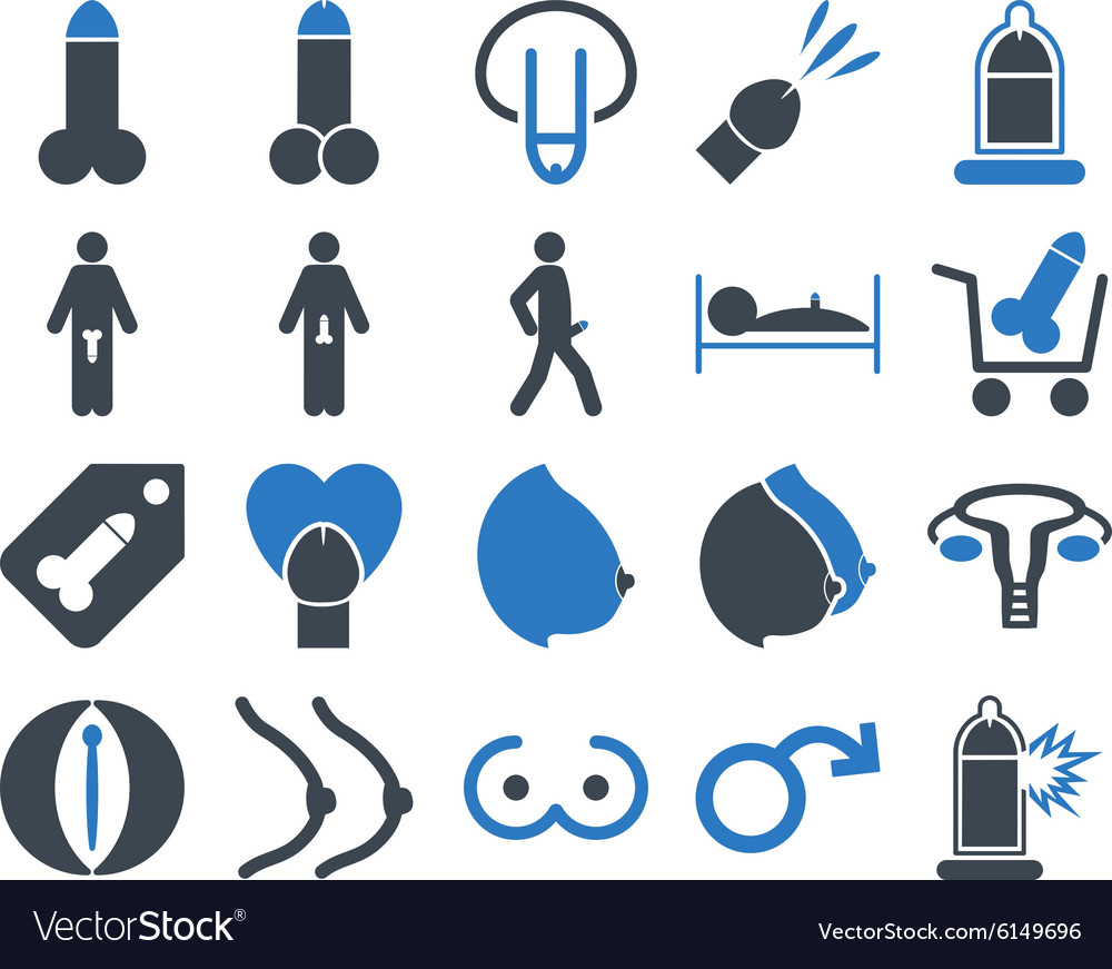 Sexual adult bicolor icons