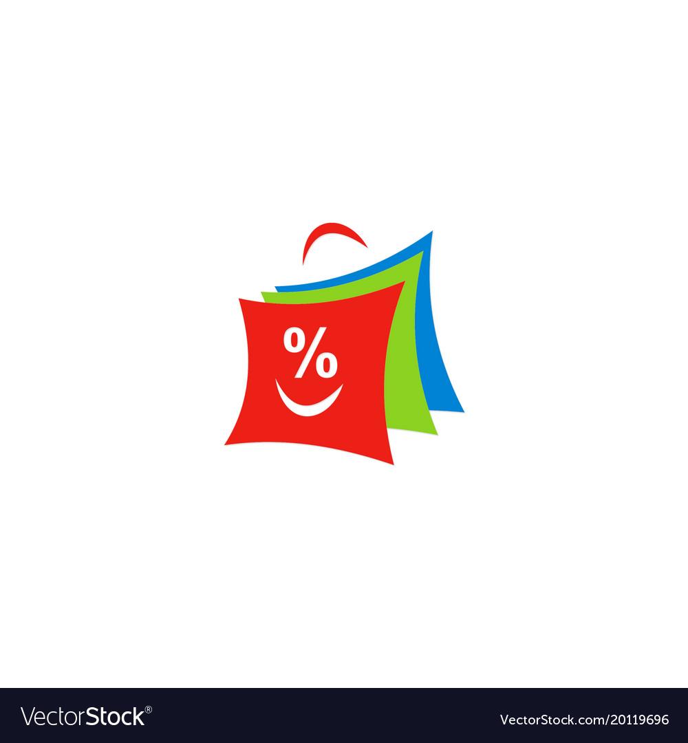 Shopping bag discount logo