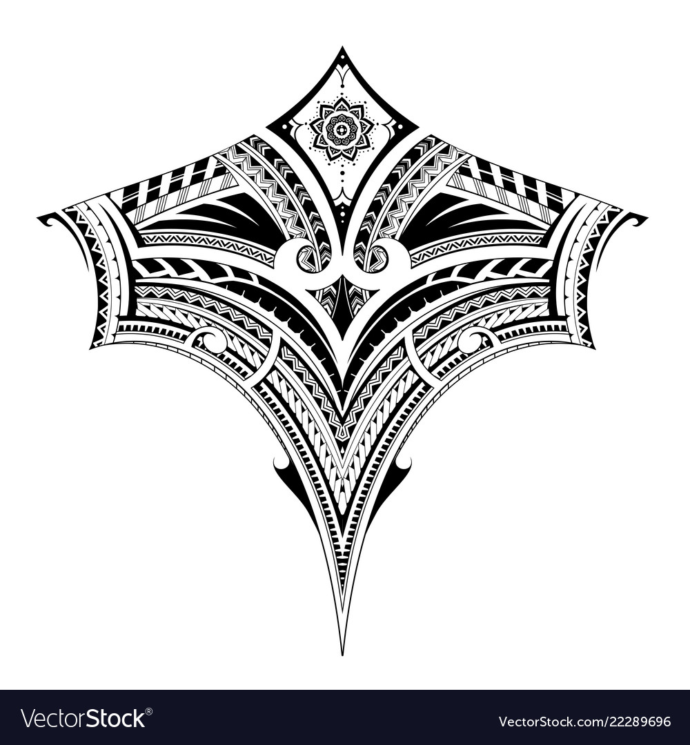 9db51167e Tribal art tattoo for chest and back area Vector Image