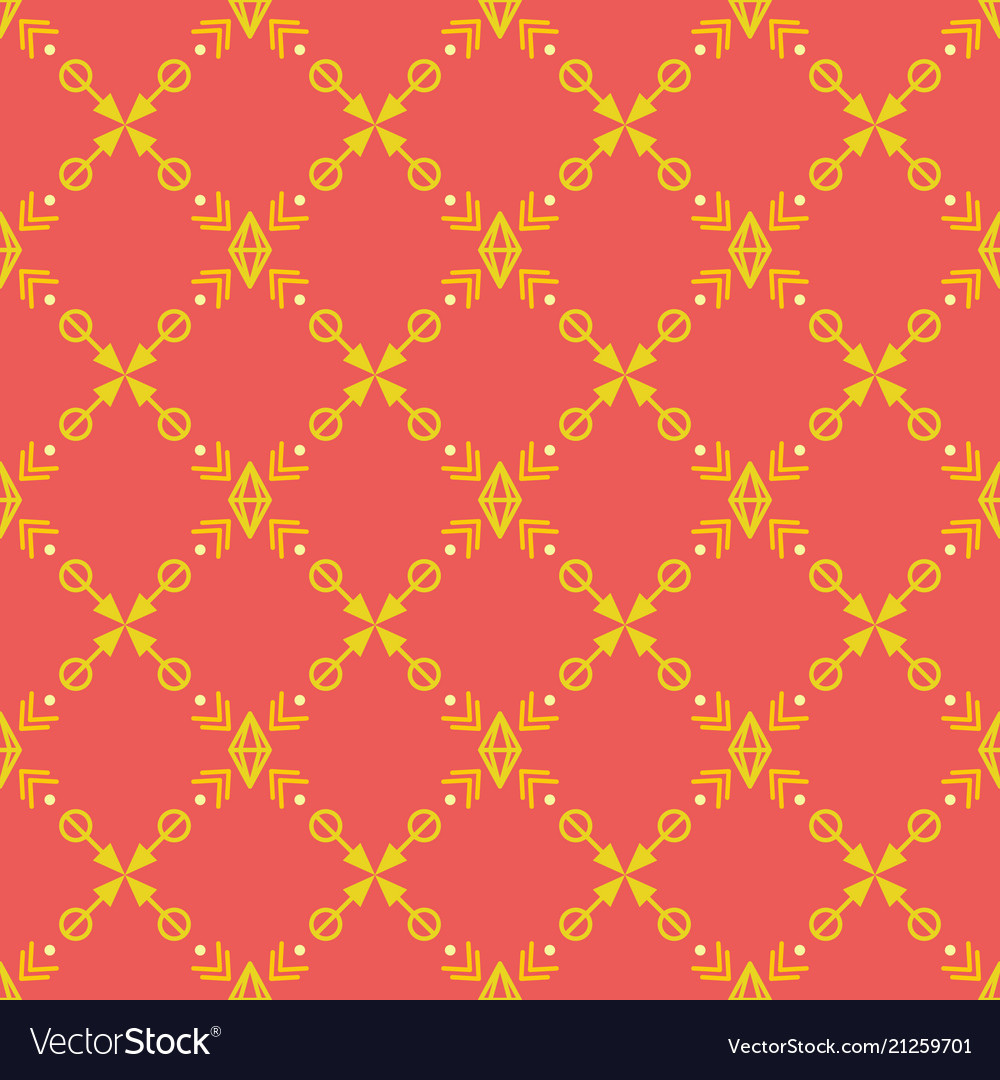 Bright seamless pattern with yellow tribal