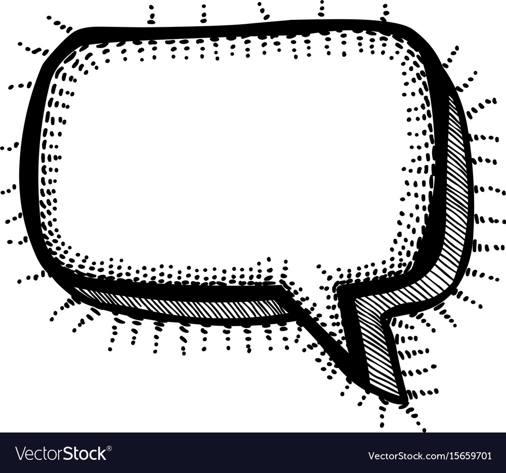 Cartoon Image Chat Icon Speech Bubble Symbol Vector Image