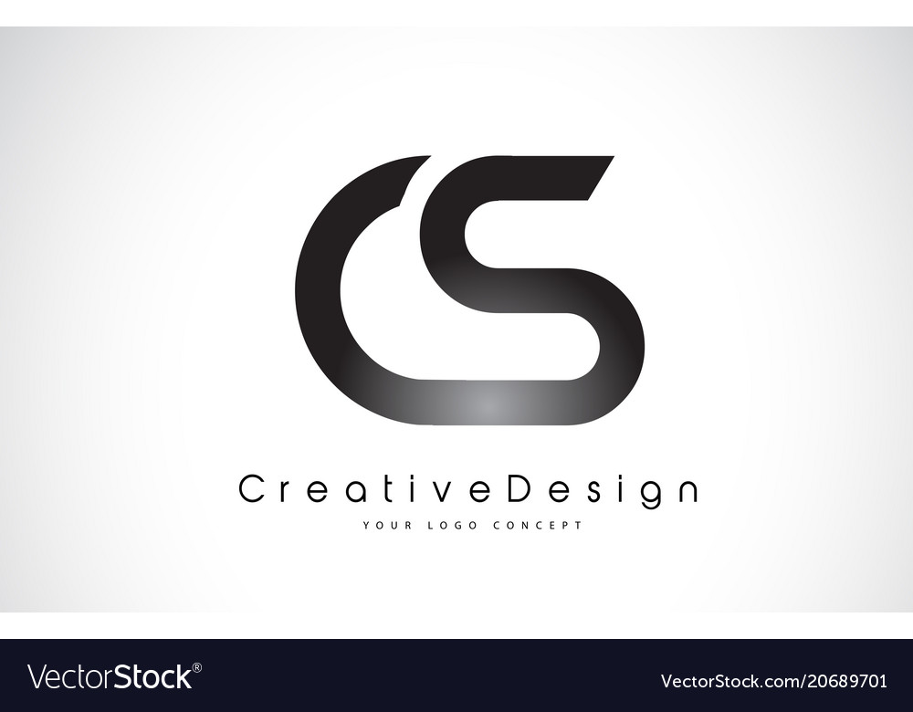 cs c s letter logo design creative icon modern vector image
