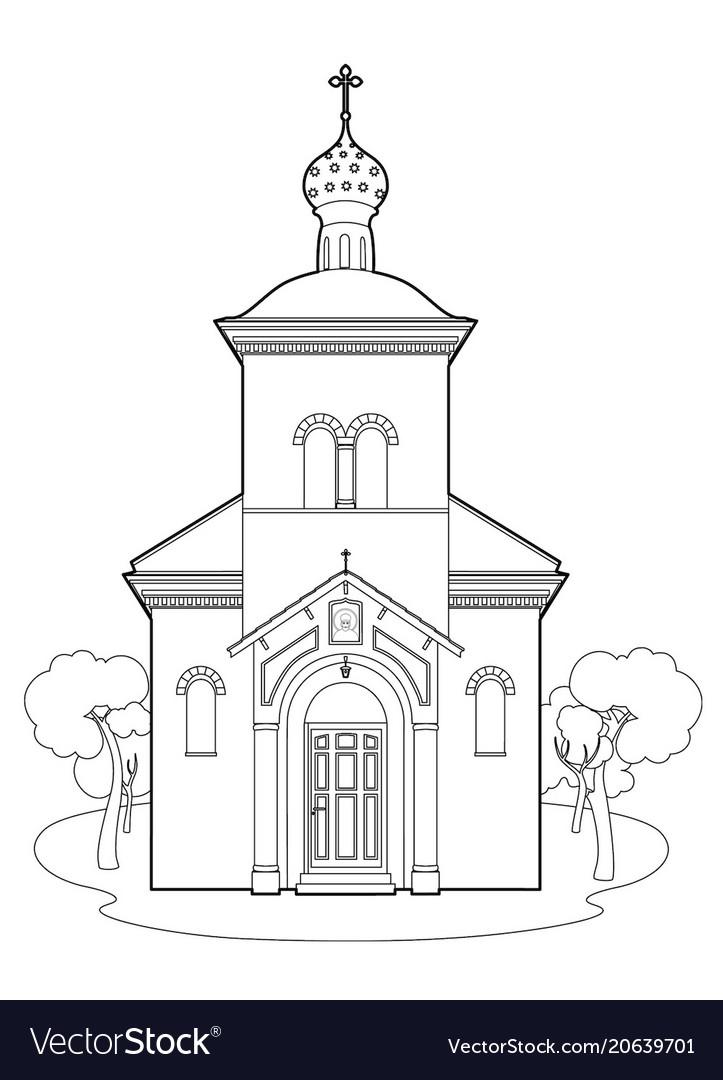 не цветные картинки церкви