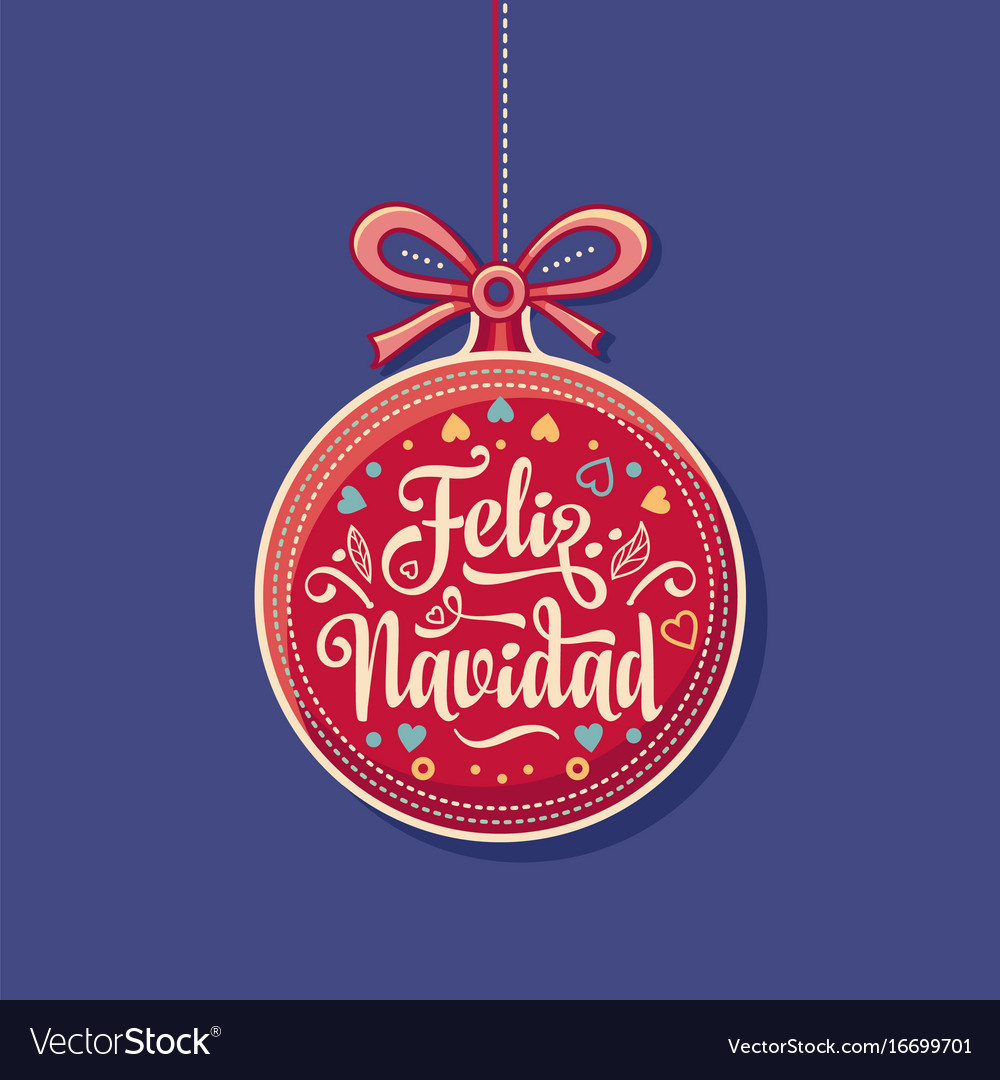 Feliz Navidad Greeting Card In Spain Royalty Free Vector