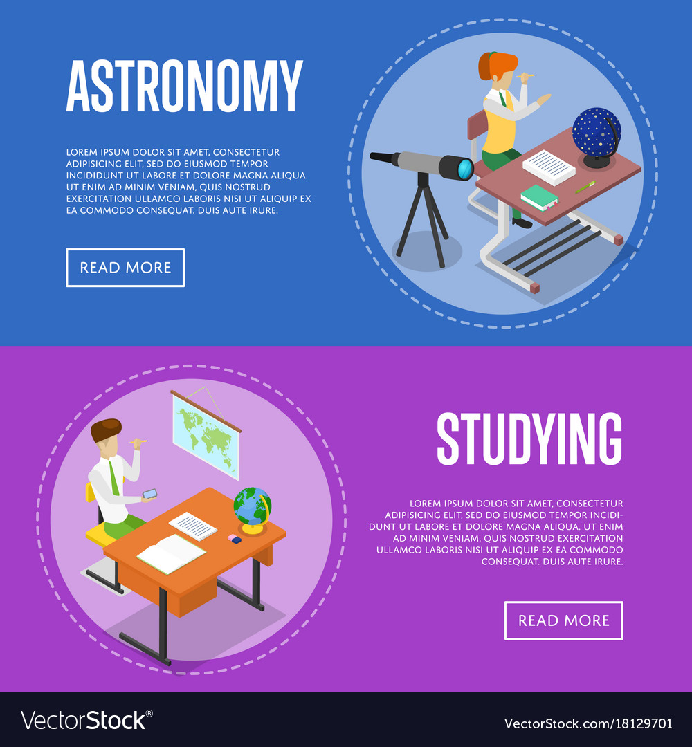 Geography and astronomy studying at school