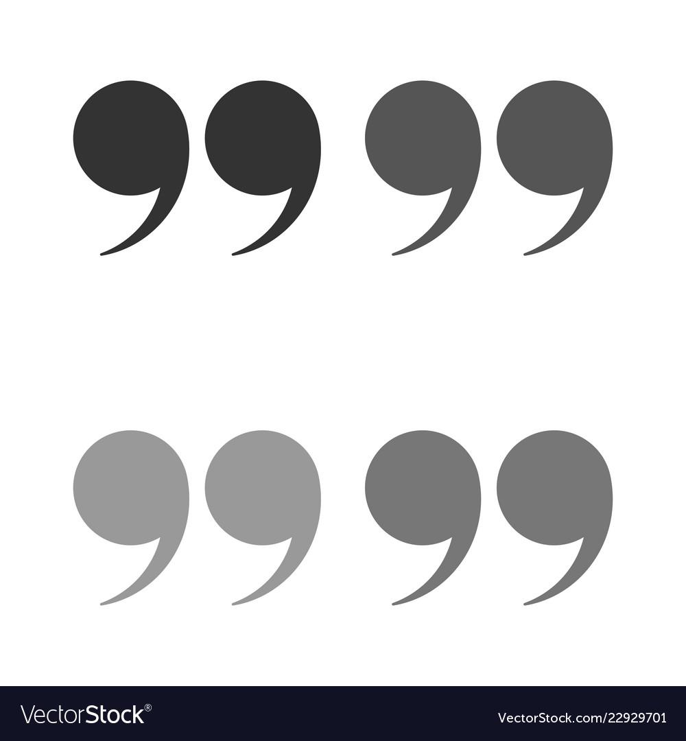 Quotes icon set quote marks black symbol