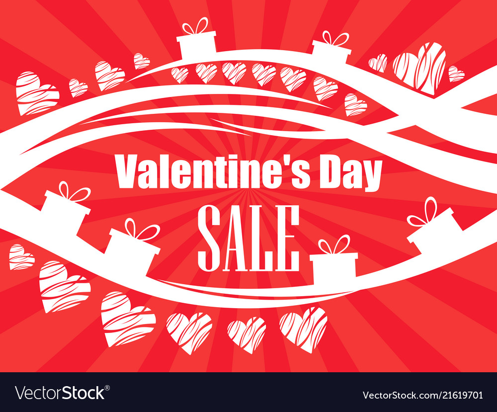 Valentines day sale beautiful background with