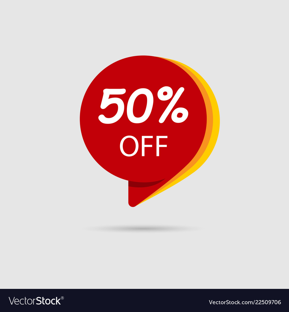 50 off special offer sale discount banner