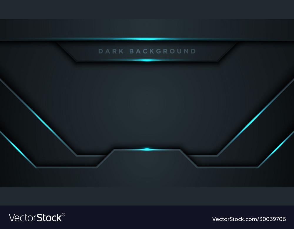 Abstract black blue frame sport design concept